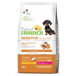 NT DOG SENSITIVE NO GLUTEN PUPPY&JUNIOR MINI PAŠARAS ŠUNIMS su LAŠIŠA 2kg