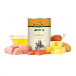 Hubertus Gold begrūdžiai konservai su vištiena ir bulvėmis šuniukams 400g