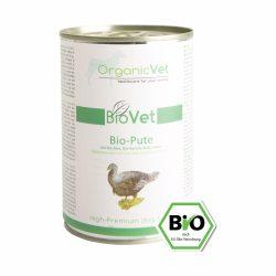 OrganicVet BioVet BIO TURKEYkonservai šunims(Ekologiškos kalakutienos, organinių ryžių, ekologiškų morkų ir obuolių konservas) 400g.