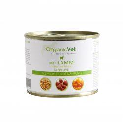 OrganicVet konservai šunims su ėriena, sorais ir moliūgais
